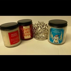 Bath & Body Works three, 3 one wick candles